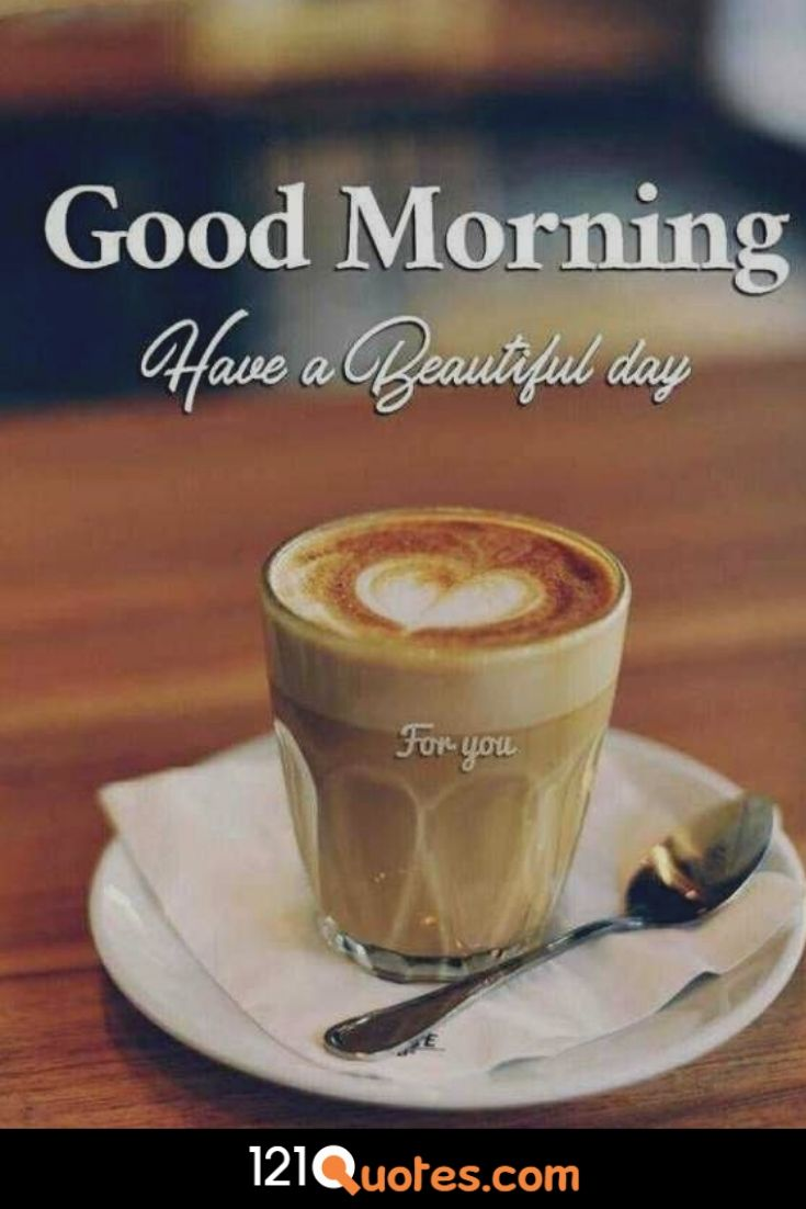Good Morning Have a Beautiful Day Wallpaper with Coffe Cup