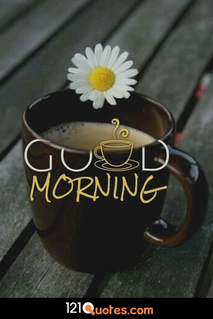 Good Morning Images with cup of Coffe and Sun Flower images