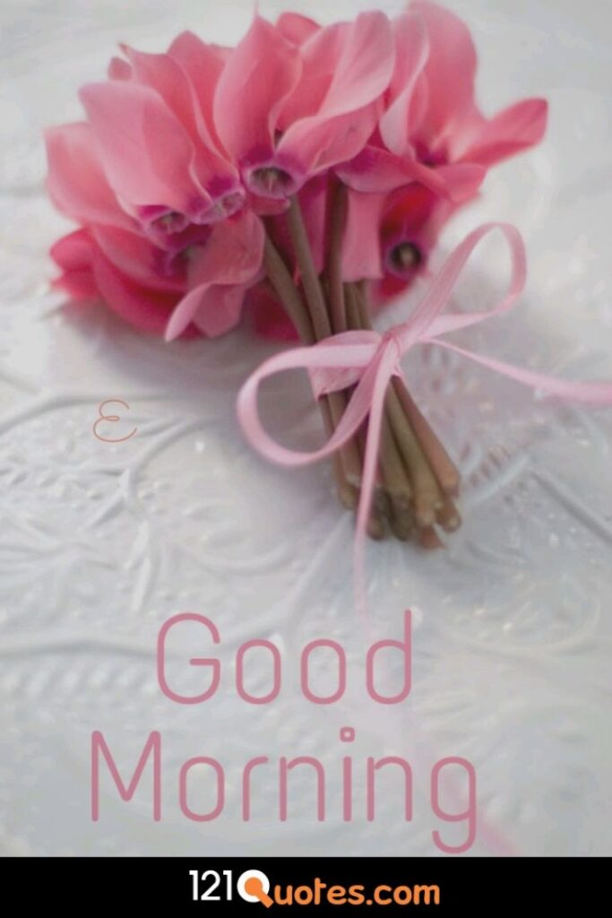 Good Morning images with Pink Flower