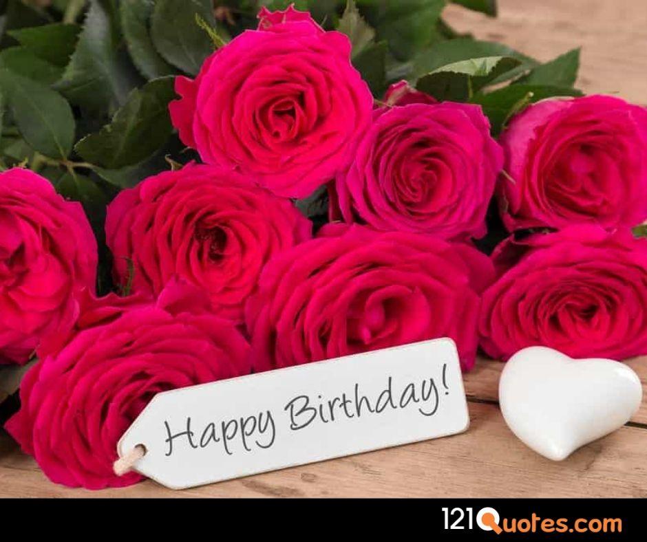 happy birthday flowers images