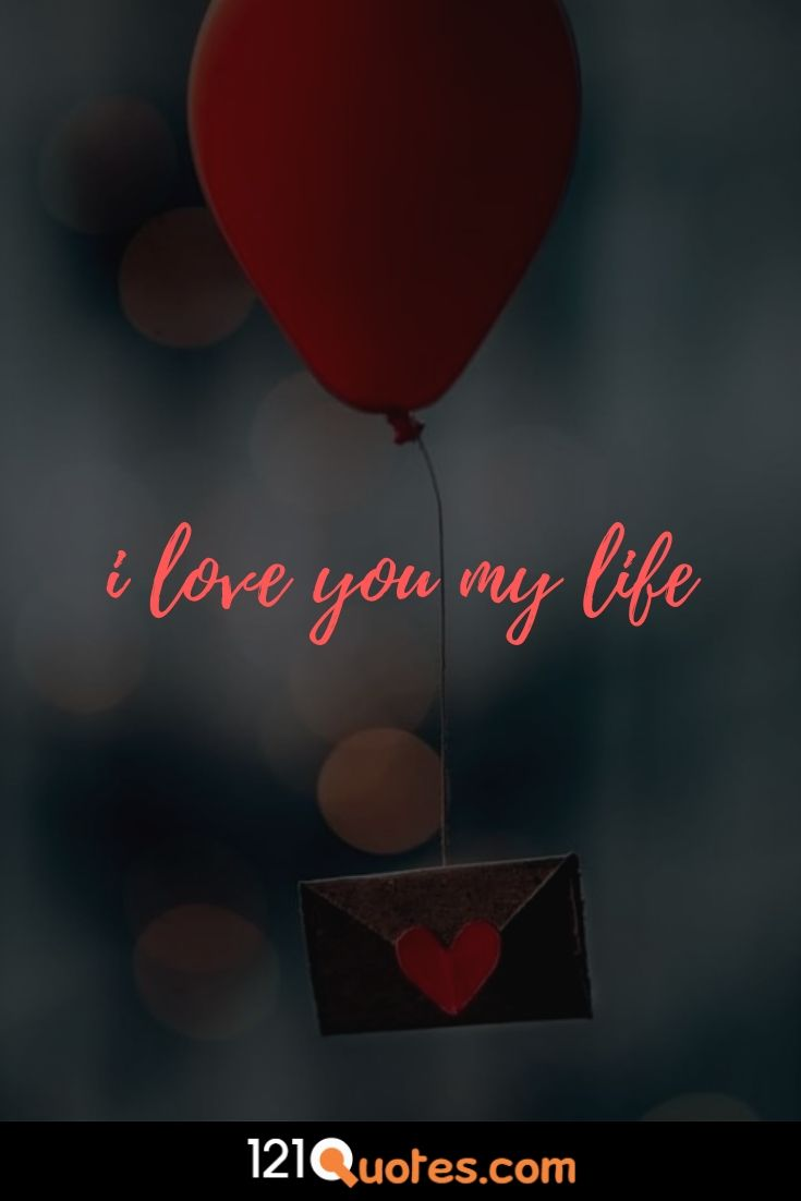 i love you image with red heart