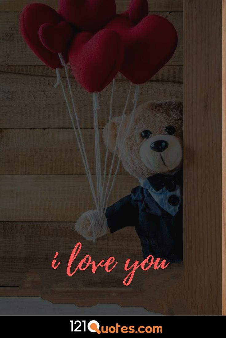 i love you wallpaper with teaddy beat and heart ballon