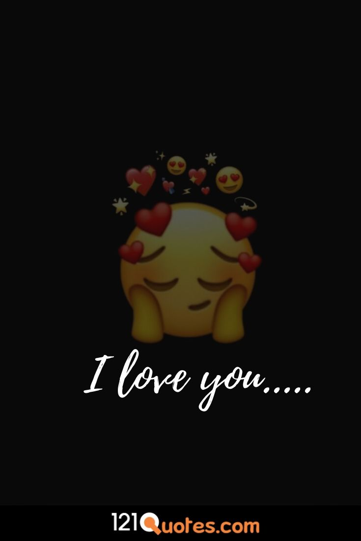 image of the emoji i love you