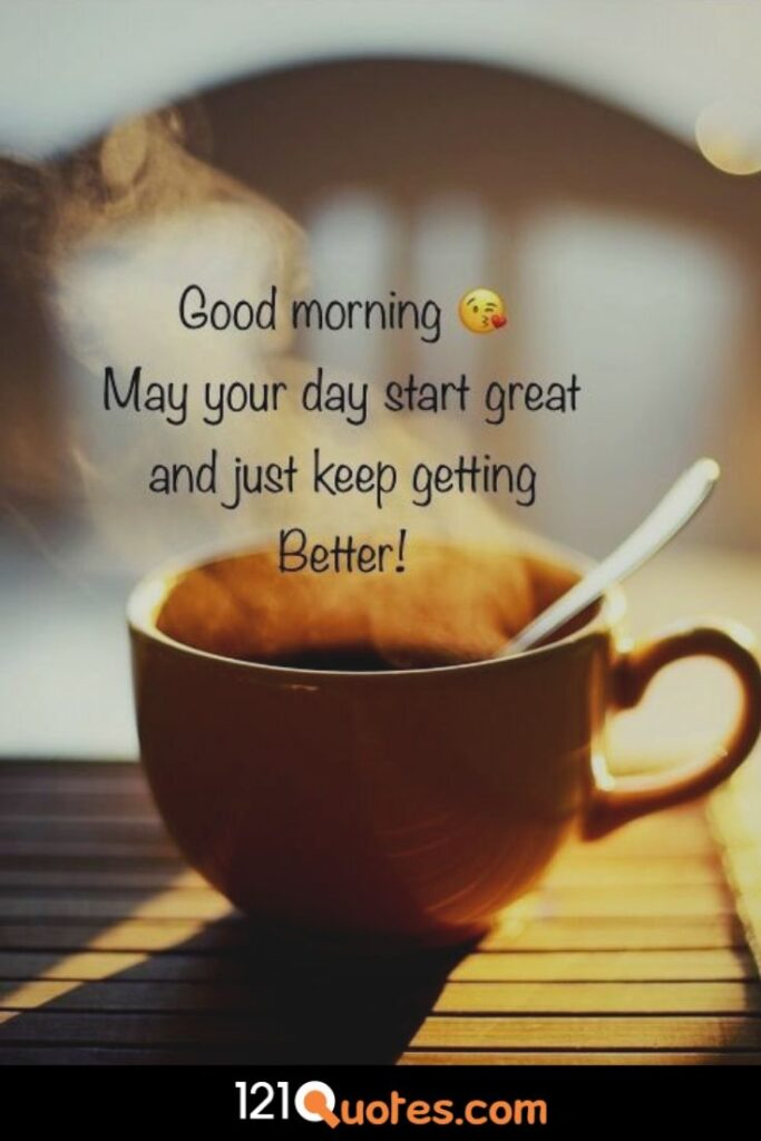 images of good morning with quotes and coup of coffe