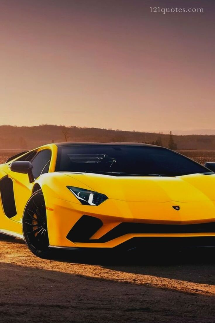 pictures of a yellow lamborghini