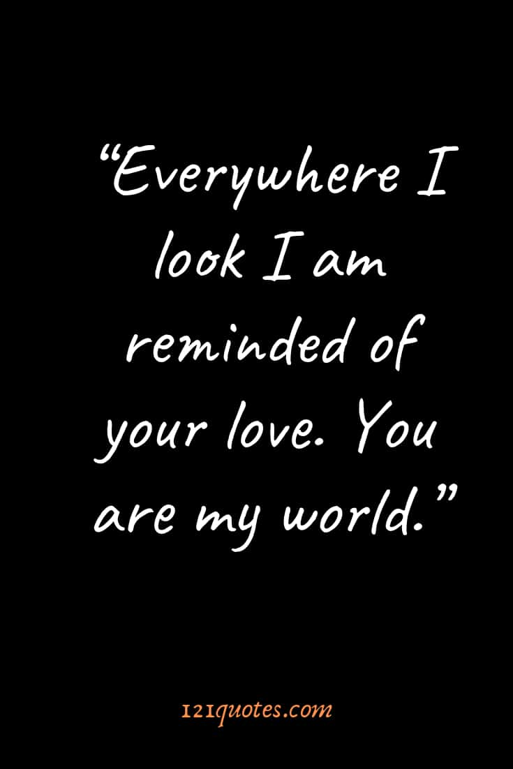 short love quotes for him smile