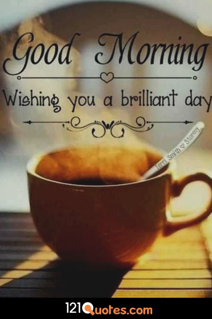 wishing you a brilliant day images with cup of copy
