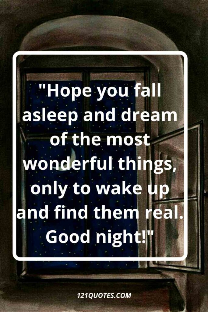 good night images for him with quotes