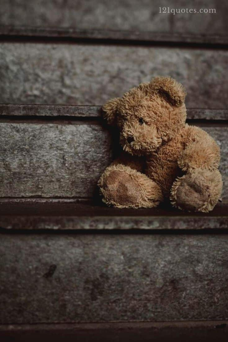 sad teddy bear images