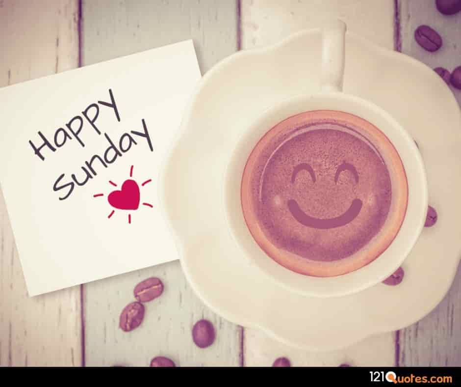 Happy Sunday Images with Cup of Coffe