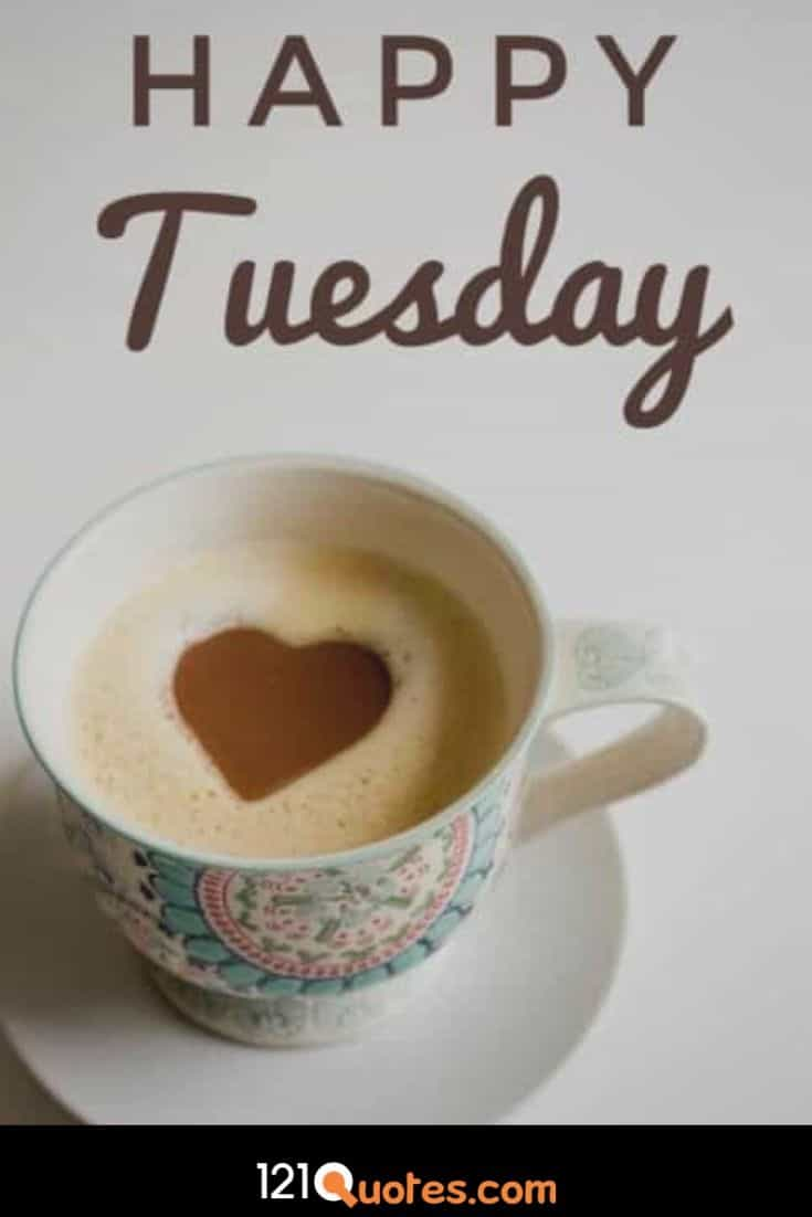 Happy Tuesday Wallpaper with Cup of Coffe