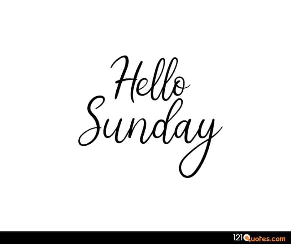 hello sunday images in HD