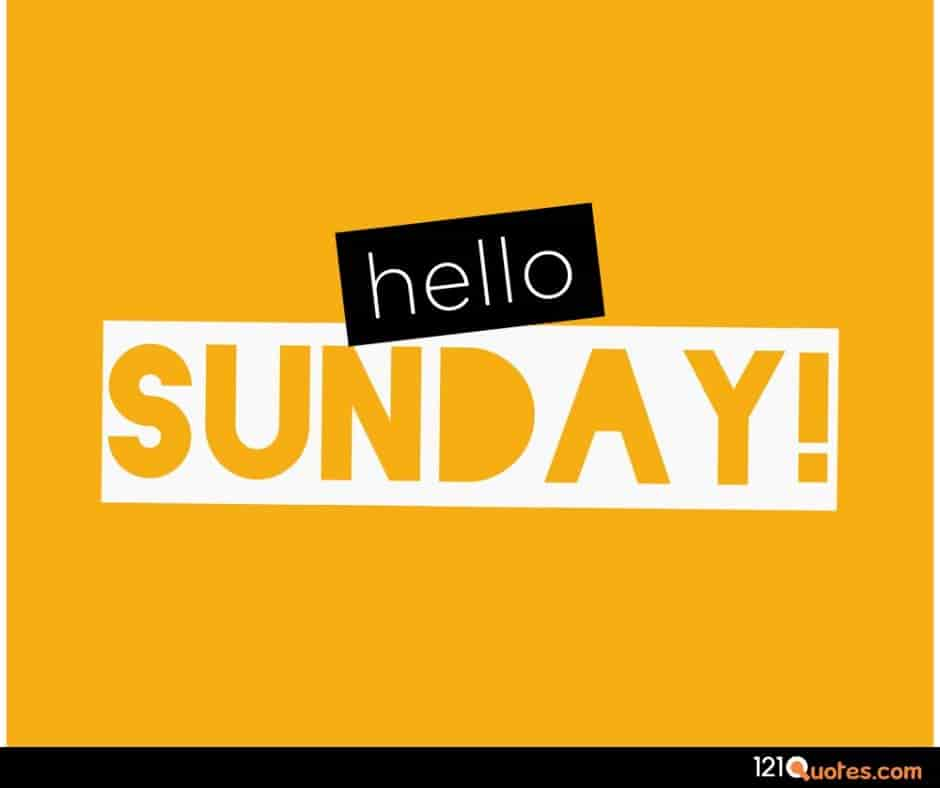 hello sunday wallpaper with yellow background
