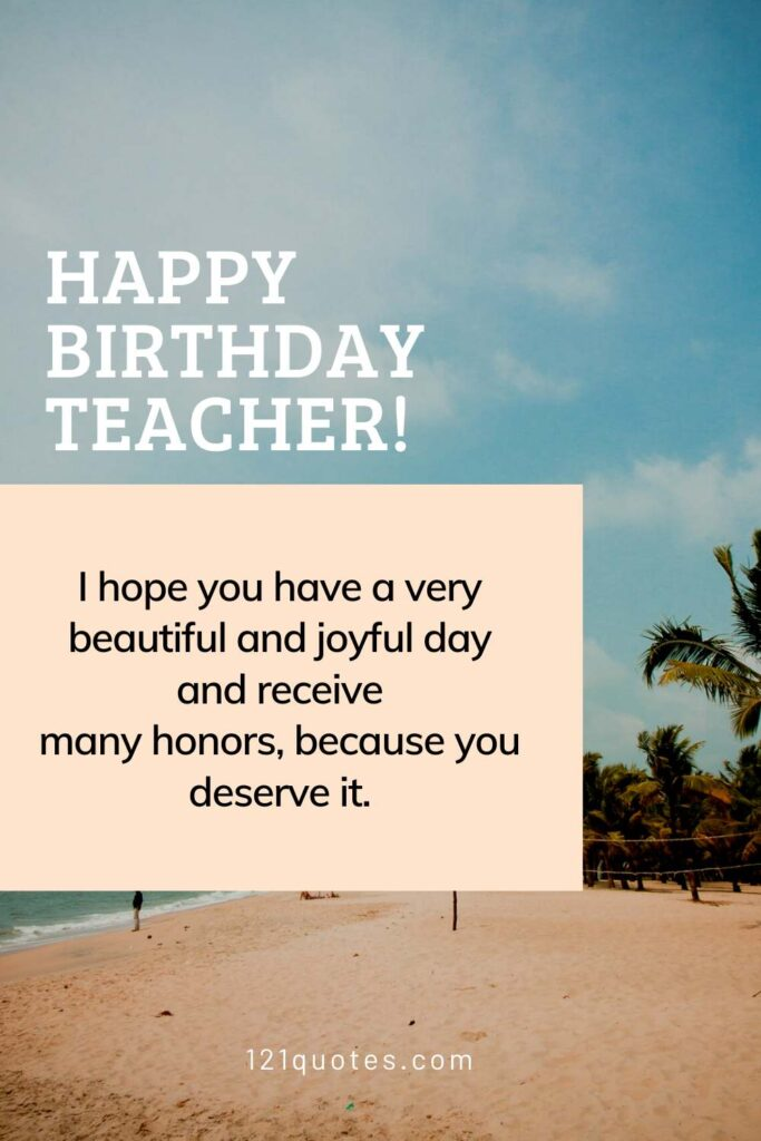 birthday wishes to teacher