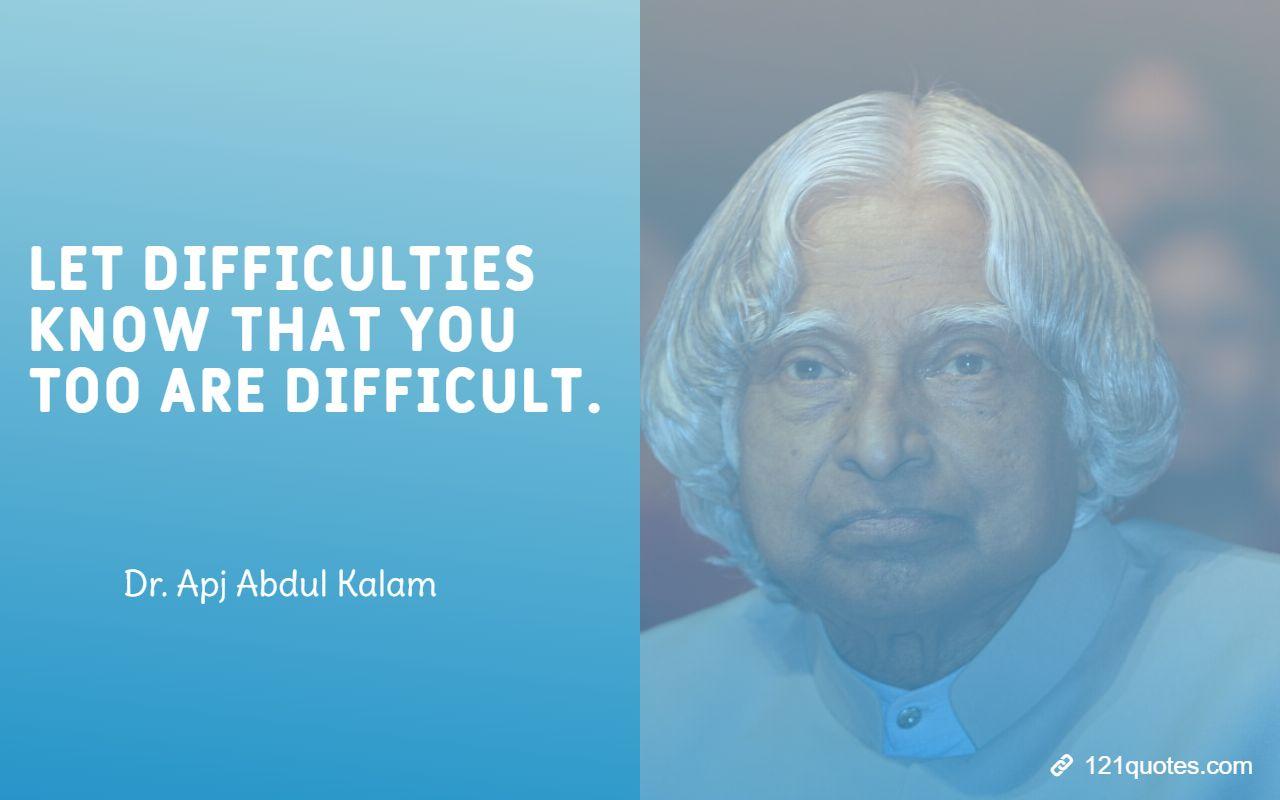 apj abdul kalam quotes for students
