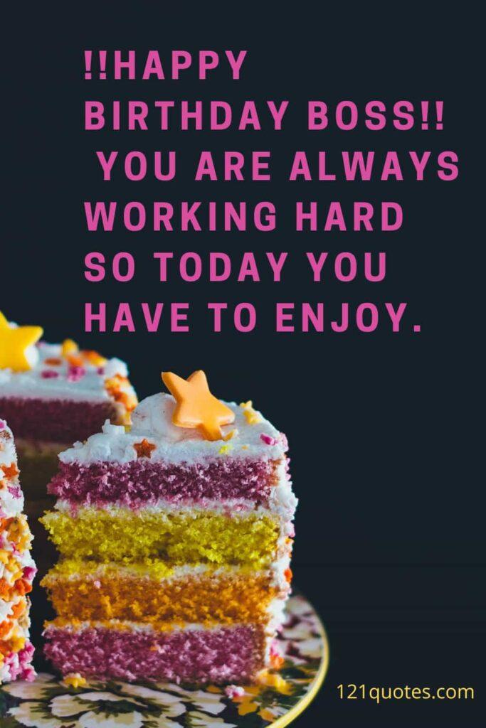 happy birthday message to boss