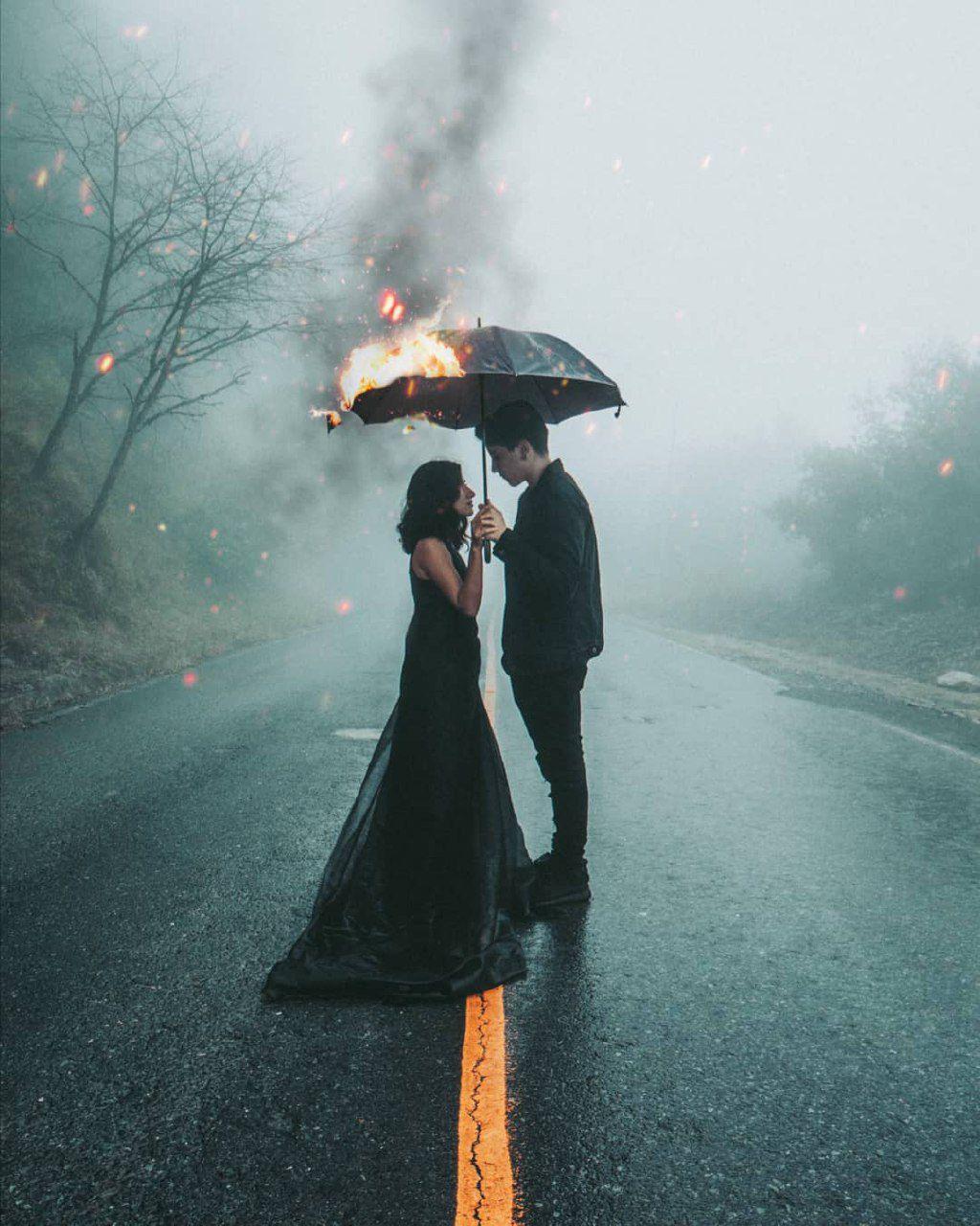 images of rainy season with couple