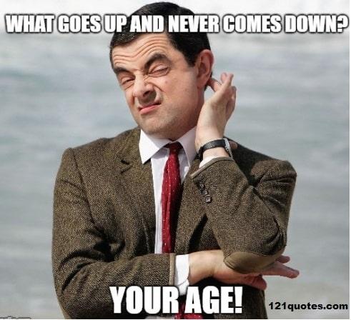 MrBean Age Joke Birthday Meme