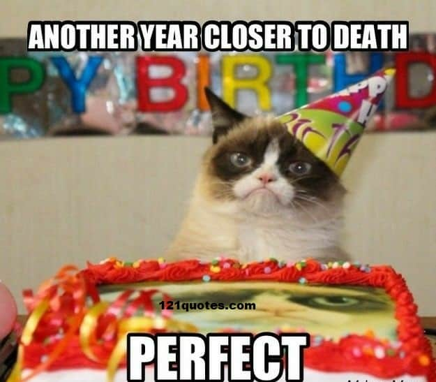 another year closer to death memes