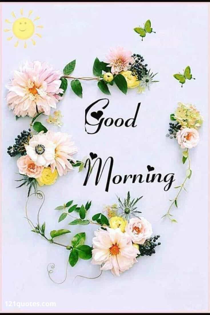 good morning images with flowers for free download