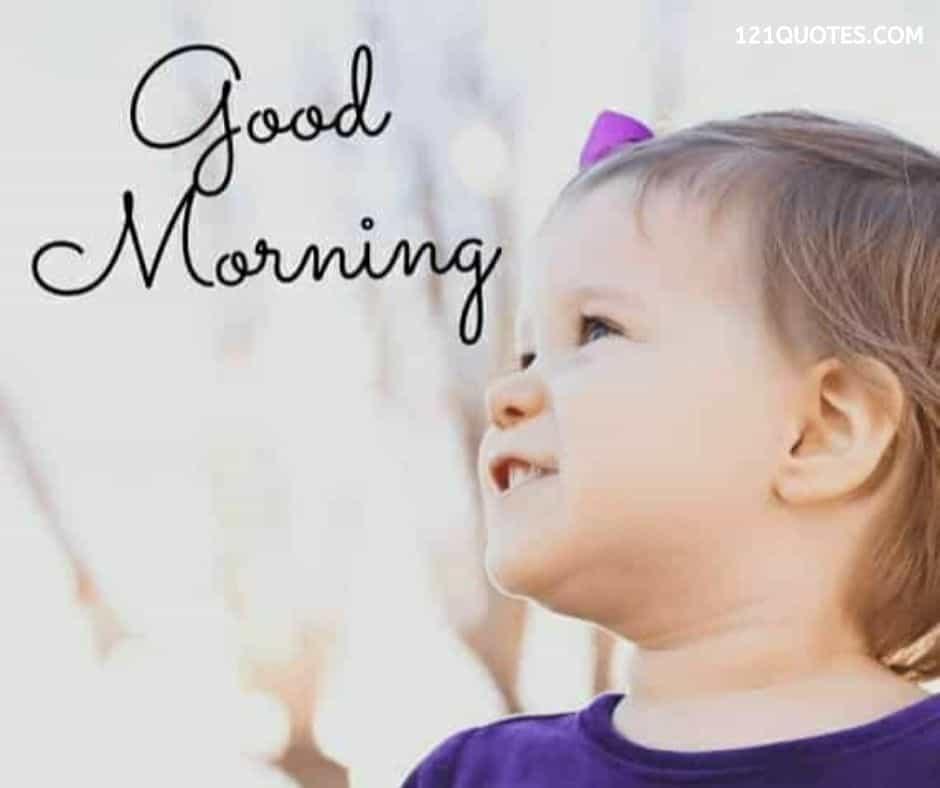 baby good morning image