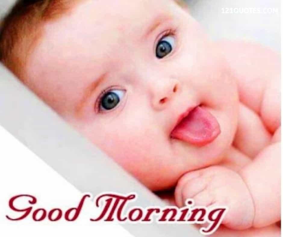 baby good morning wallpaper