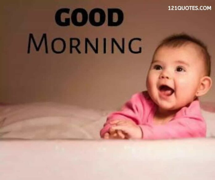 cute baby gud morning images
