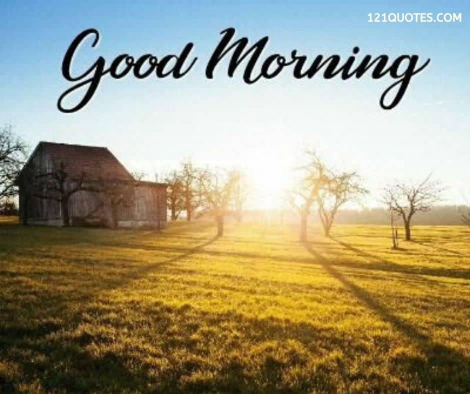 good morning village image