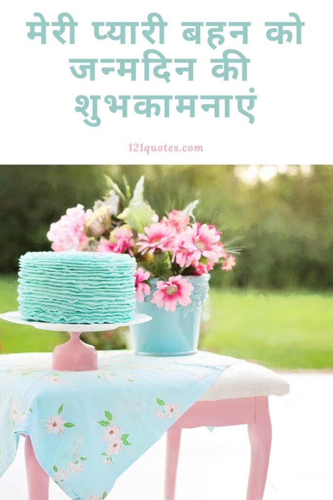 Beautiful Birthday Wishes for Sister in Hindi