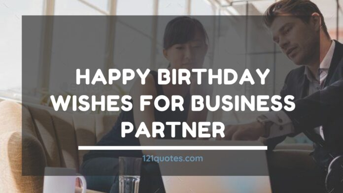 happy birthday wishes for business partner