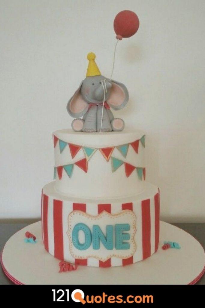 1st birthday cake boy elephant