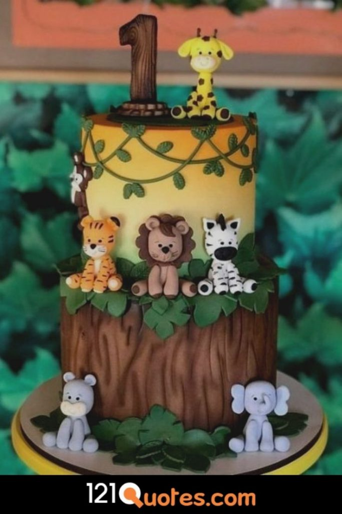 1st birthday cake boy monkey cupcake