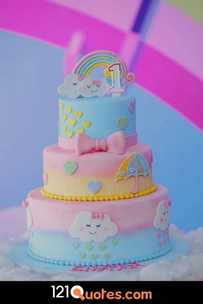 1st birthday cake boy simple