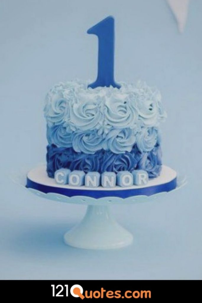 1st birthday cake images for boy in blue colour