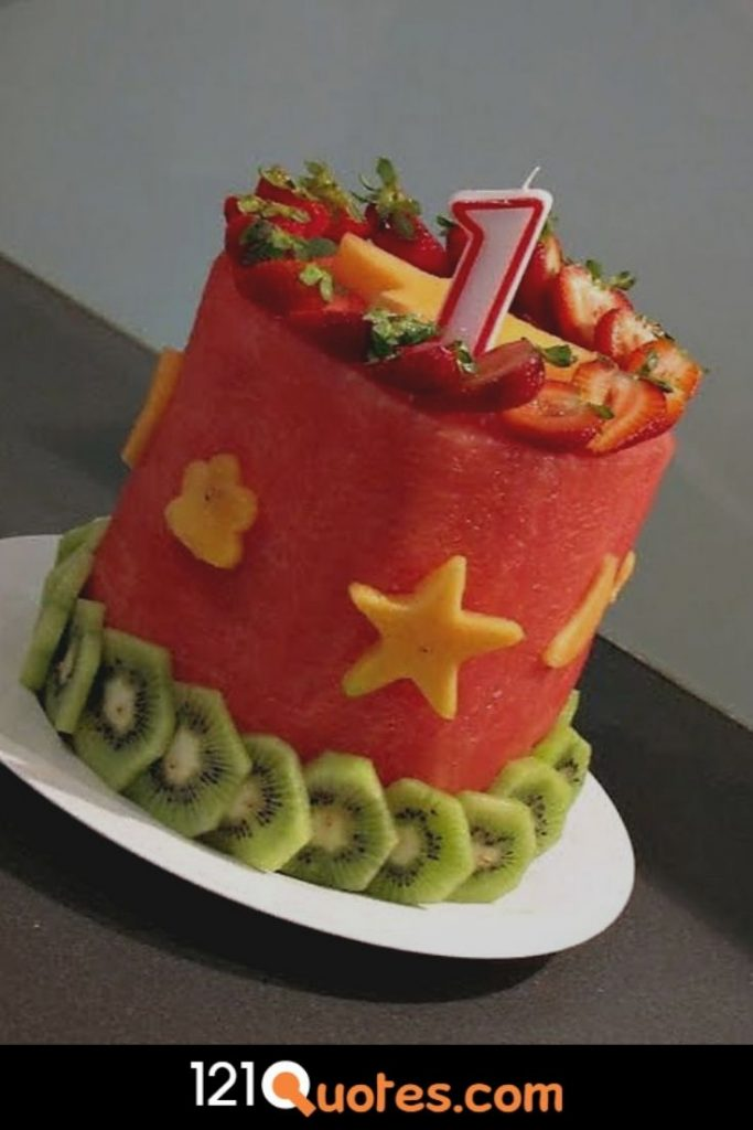 1st birthday cake images for boy in red colour