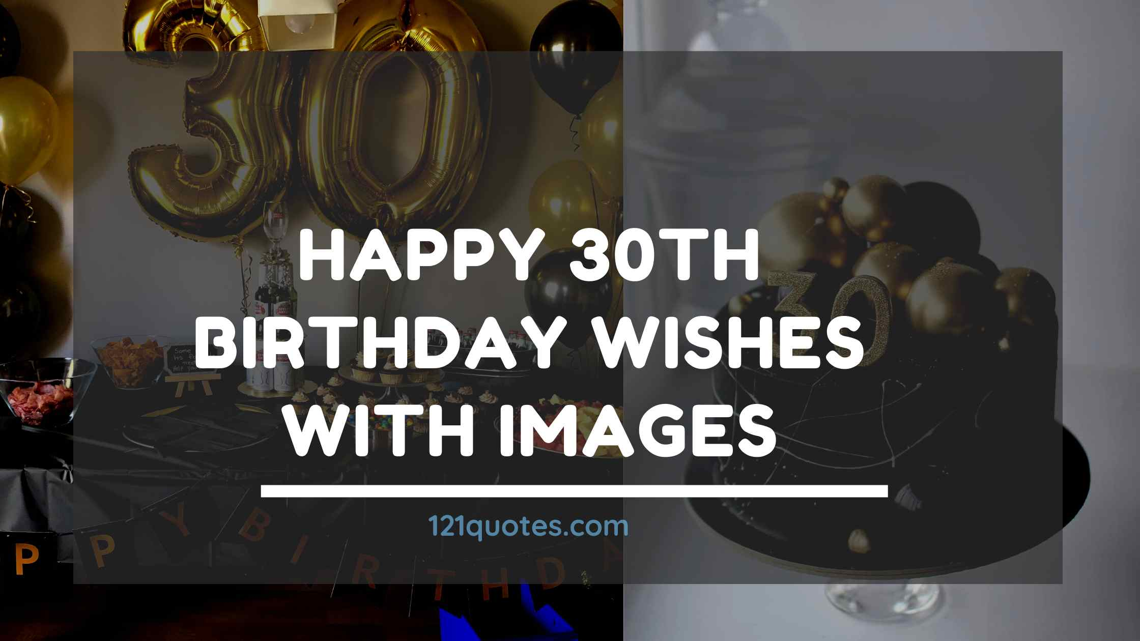 Happy 30th Birthday Wishes with Images