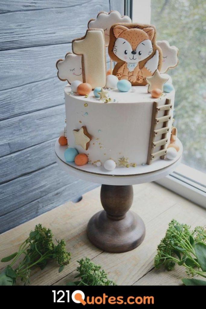 boy 1st birthday cake photos