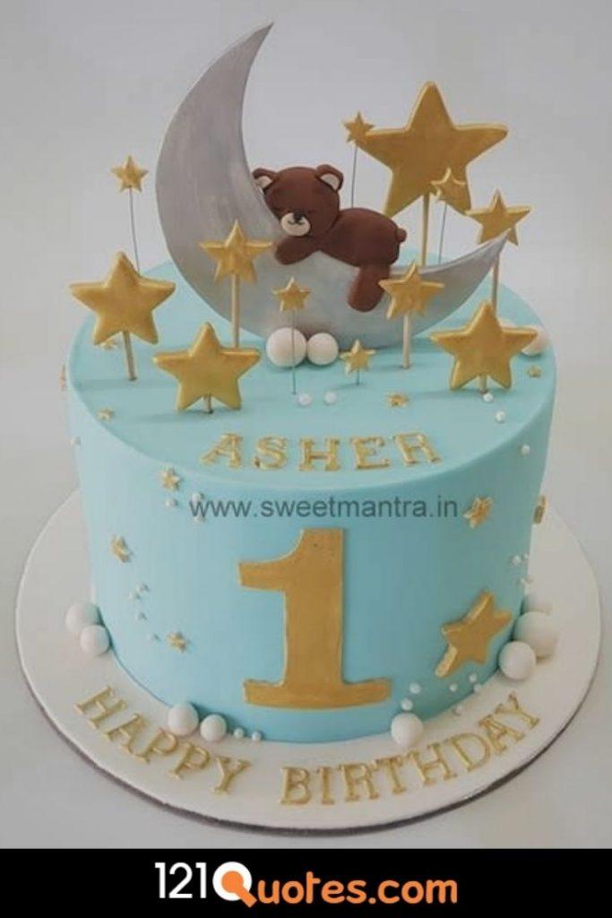 happy 1st birthday cake boy